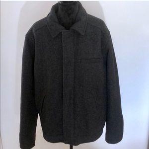 American Eagle Dark Gray Wool Coat Size XL